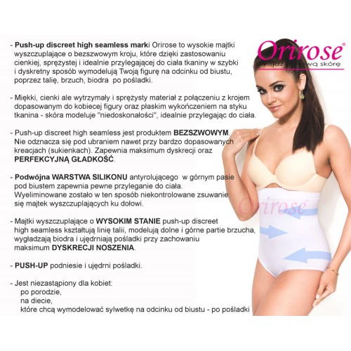 Majtki Push-up Discreet High Seamless